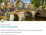 MATTA Travel Fair Specials - Europe / Africa