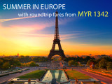 Fly to Europe from RM 1,342