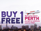 Book your seat to Perth and get additional seat FREE*