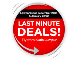 Last Minute Deals! Low fares for December 2015 & January 2016!
