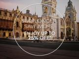 Stay Longer, Save More! Up to 25% off @ Swissotel, Lima
