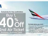 Enjoy 40% Off for Companion Tickets with Alliance Bank Visa Credit Cards