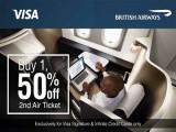 50% Off 2nd British Airways' Air Ticket with Alliance Bank Card