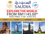 Fly to Europe and more from RM1,145 with Saudi Arabian Airlines!