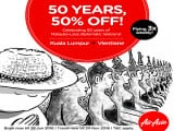 Celebrate 50 Years and Save 50% Off Flights to Vientiane via AirAsia