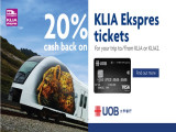 20% Cash Rebate from Express Rail Link with UOBM