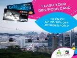 Enjoy Up to 35% Off Singapore Cable Car Ride with DBS/POSB Card