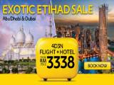 Exotic Etihad Sale from RM3,338 with Expedia to Abu Dhabi and Dubai