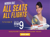 Merdeka Sale - All Seats All Flights: Fly with Malindo Air from RM9