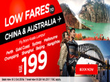 Fly to China and Australia from RM199 with AirAsia