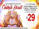 Celebrate Diwali with AirAsia Flights from RM29