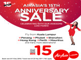 Celebrate AirAsia's Birthday with Flights from RM15