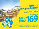 Travel to Manila from RM169 with Cebu Pacific Air