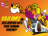 Save RM12 in Express Rail Link Pass with Eraman Voucher
