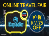 Online Travel Fair Special in Expedia with Up to RM75 Savings
