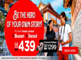 Fly to Seoul & Busan from RM409 with AirAsia