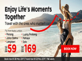Enjoy Life's Moments Together with Flights on Airasia from RM59