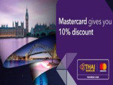 Enjoy 10% Off Fights Worldwide with Thai Airways and MasterCard