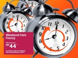 It's Weekend Fare Frenzy: Fly from Kuala Lumpur from RM44 with Jetstar
